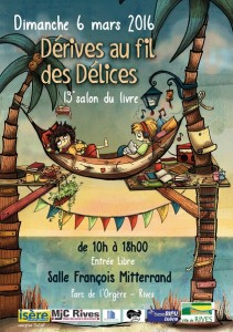 affiche du salon du livre de Rives 2016